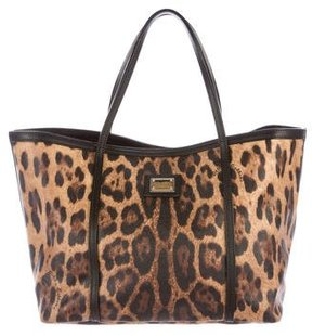 Dolce & Gabbana Leather-Trimmed Miss Escape Tote