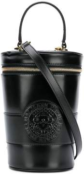 Balmain logo embossed bucket bag