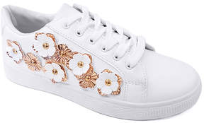 Refresh White & Rose Gold Floral Action Sneaker