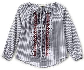 Copper Key Big Girls 7-16 Embroidered Peasant Top