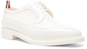 Thom Browne Rubber Brogues in White.
