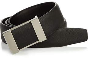 River Island Mens Black plated buckle belt
