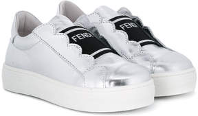 Fendi scalloped trim sneakers