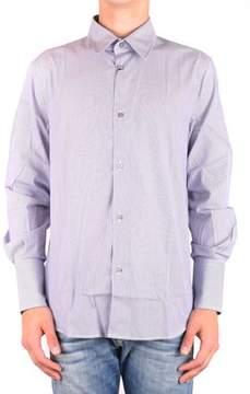 CNC Costume National Men's Mcbi074104o Light Blue Cotton Shirt.