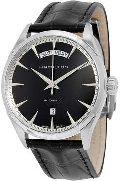 Hamilton Jazzmaster Automatic Black Dial Black Leather Men's Watch