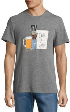 Original Penguin Drink and Draw Graphic Tee
