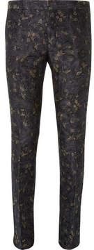 Dries Van Noten Slim-Fit Linen And Cotton-Blend Jacquard Suit Trousers