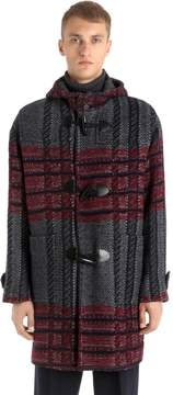 Antonio Marras Mixed Wool Check Knit Coat