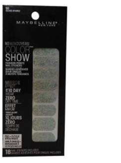 Maybelline Color Show Prints Mirror Effect Nail Stickers. 50, Silver Sparks.