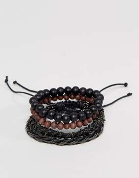 Aldo Beaded & Chain Bracelets In 4 Pack