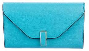 Valextra Pebble Leather Clutch w/ Tags