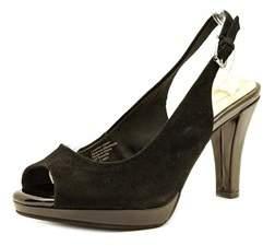 Giani Bernini Benette Women Open-toe Suede Black Slingback Heel.