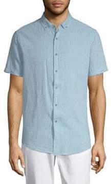 Report Collection Linen Blend Sport Shirt