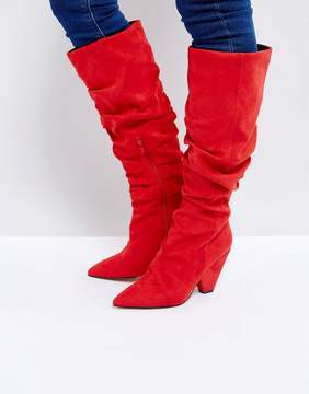 Asos CANYON Ruched Knee Boots