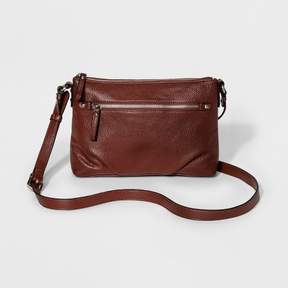 Merona Women's Crossbody Handbag - Merona Valise Brown