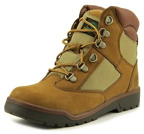 Timberland 6-inch Leather And Fabric Field Boot Youth Brown Boot.