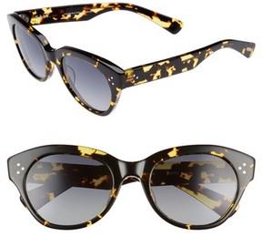 Salt Women's 53Mm Cat Eye Polarized Sunglasses - Blonde Havana