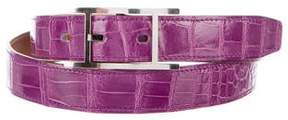 Hermes Porosus Crocodile 24mm Hapi Belt