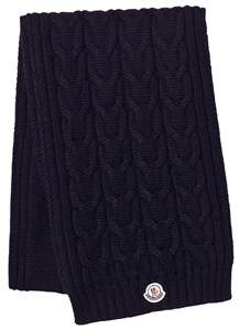 Moncler Navy Knitted Scarf