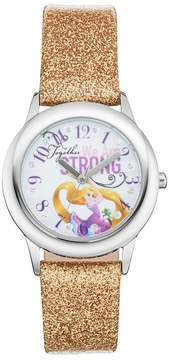 Disney Princess Rapunzel Together We Are Strong Kids' Leather Watch
