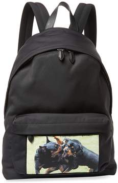 Givenchy Rottweiler Print Zip Backpack