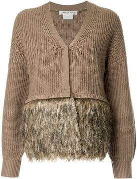 CITYSHOP furry trim cardi-coat
