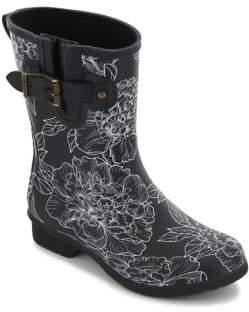 Chooka Cora Printed Matte Rubber Mid-Calf Rain Boots