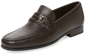 Salvatore Ferragamo Men's Leather Moc Toe Loafer