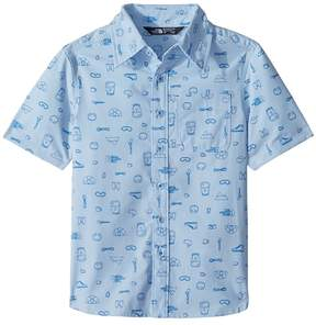 The North Face Kids Short Sleeve Pursuit Top Boy's Short Sleeve Button Up