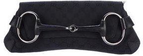 Gucci Large Horsebit Chain Clutch - BLACK - STYLE