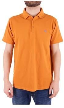 Trussardi Men's Orange Cotton Polo Shirt.