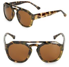 Dries Van Noten 49mm Tortoise Shell Pantos Sunglasses