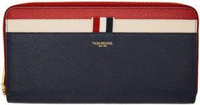 Thom Browne Tricolor Zip Around Wallet