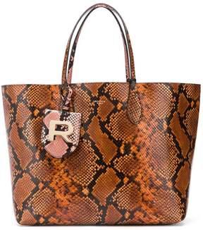 Rochas snake effect tote bag
