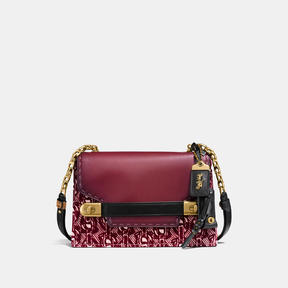 COACH Coach Swagger Chain Crossbody With Signature Chain Print - OLD BRASS/BORDEAUX - STYLE