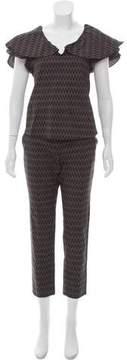 Apiece Apart Printed Knit Pant Set