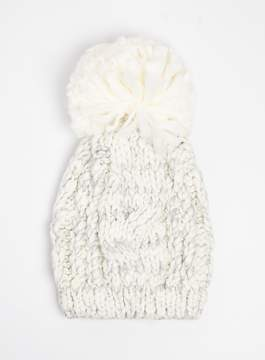 Dorothy Perkins Cream Cable Knit Beanie Hat