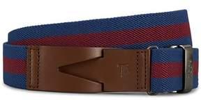 Tod's Men's Blue/red Fabric Belt.