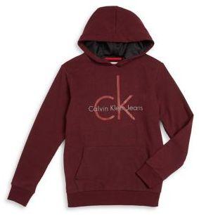 Calvin Klein Jeans Boy's Logo Hoodie