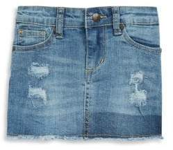 Joe's Jeans Little Girl's Distressed Mini Skirt