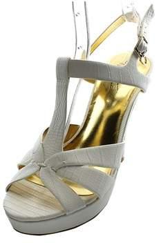 Thalia Sodi Raquell Women Open Toe Synthetic White Platform Sandal.