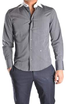 Richmond Men's Grey Cotton Shirt.