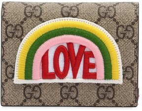 Gucci Love Patch Gg Supreme Card Holder - TAUPE - STYLE