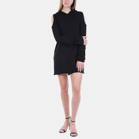 RtA Joelle Cold Shoulder Hoodie Dress