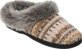 Dearfoams Pattern Knit Clog Slipper with Lurex (Women's)