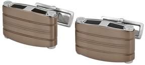 Montblanc Open Box Stainless Steel & Titanium Rectangular Cuff Links