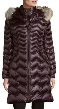 Dawn Levy Kendall Coyote Fur-Trimmed Down Coat