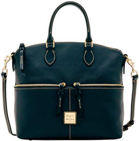 Dooney & Bourke Pebble Grain Double Pocket Satchel - BLACK BLACK - STYLE