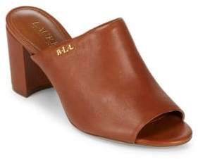Lauren Ralph Lauren High Heel Leather Mules
