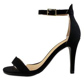 Material Girl Womens Blaire Fabric Open Toe Formal Ankle Strap Sandals.